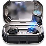 Zmsdt Los Mini Auriculares Inalámbricos Binaurales De Bluetooth 5.0 Tocan Los Auriculares Bajos Impermeables De Bluetooth