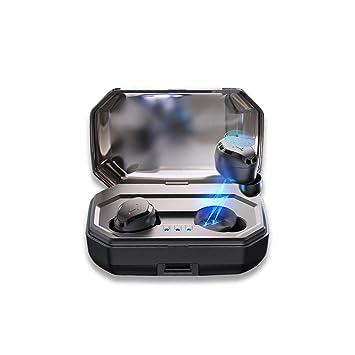 Zmsdt Los Mini Auriculares Inalámbricos Binaurales De Bluetooth 5.0 Tocan Los Auriculares Bajos Impermeables De Bluetooth De IPX6 con La Carga De La ...