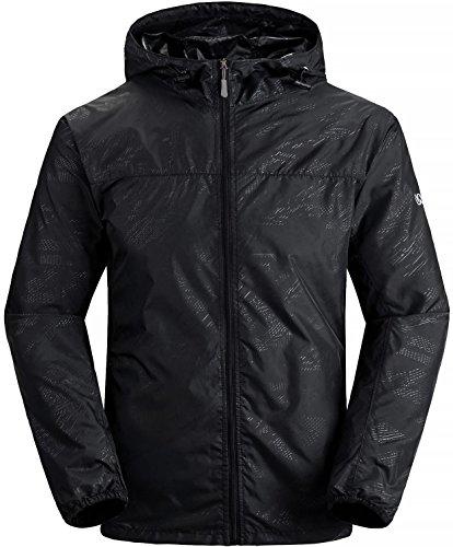 Wantdo Men's Lightweight Windproof Jacket UV Protect Quick Dry Packable Skin Coat