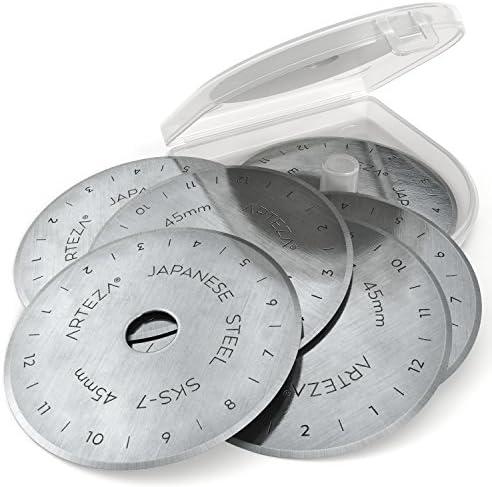 Premiumpreis/® 10 Rollschneider Klingen Set mit 10 Messern 45 mm Ersatzklingen Ersatzmesser f/ür Rollenschneider hochwertiger SKS-7 Wolfram-Stahl