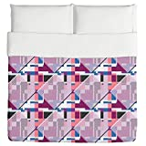 Glass Window Meets Bauhaus Duvet: Queen Custom Printed