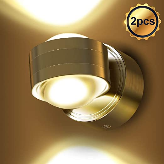 EBES 2PCS 6W LED Apliques de pared Modernos Luz de pared Blanco Cálido Dormitorio Pasillo Sala de Estar Escaleras: Amazon.es: Iluminación
