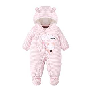 Mornyray Infant Baby Unisex Animal Hooded Romper Outerwear Warm Fleece Snowsuit