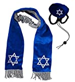 Outward Hound Kyjen  2972 Hanukkah Hat and Tallis Holiday Accessory for Dogs, Medium, Blue