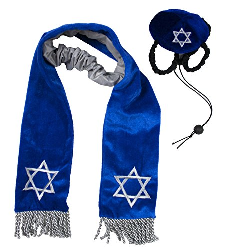 Outward Hound Kyjen  2971 Hanukkah Hat and Tallis Holiday Accessory for Dogs, Small, Blue