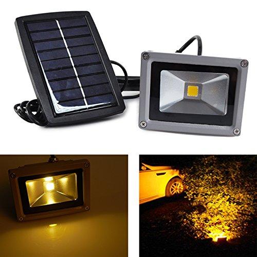 Weanas 10W LED Security Flood Light Solar Energy Powered ...