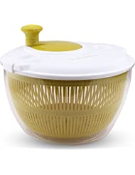 Salad Spinner - Salad Tosser, Mixer - Vegetable Dryer - Easy Spin - 5.5 Quart - By Utopia Kitchen
