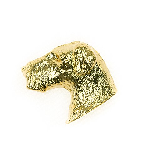 AIREDALE Made in U.K Artistic Style Dog Clutch Lapel Pin Collection 22ct Gold Plated (Gold Airedale Dog)