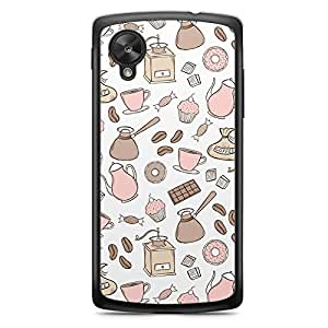Pink Brown Nexus 5 Transparent Edge Case - Bakery Collection