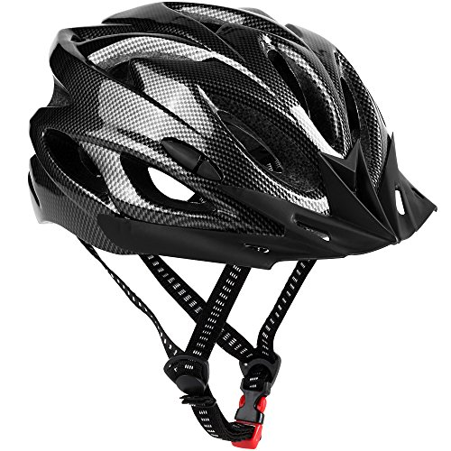Zacro Lightweight Cycle/Bike Helmet with Removable Visor and Liner Adjustable Thrasher, Grey