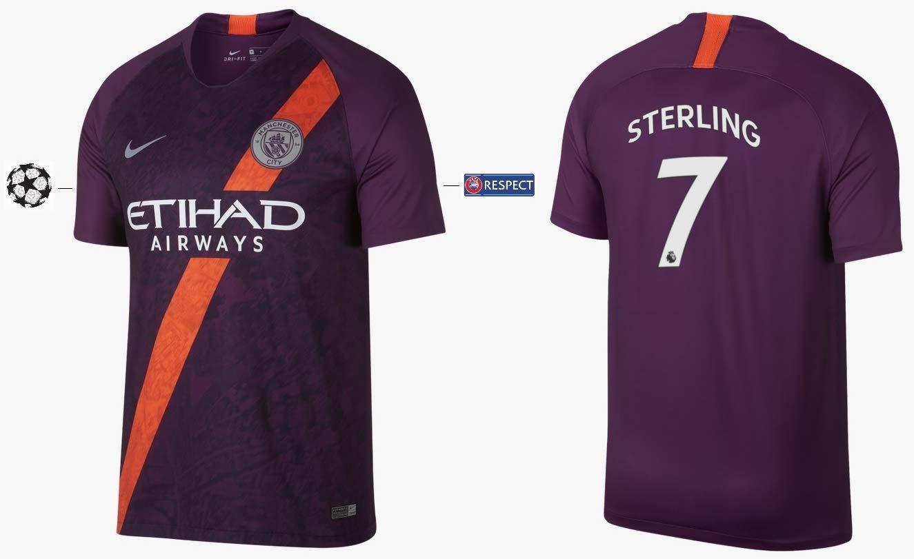 Manchester City F.C. Trikot Kinder 2018-2019 Third UCL - Sterling 7