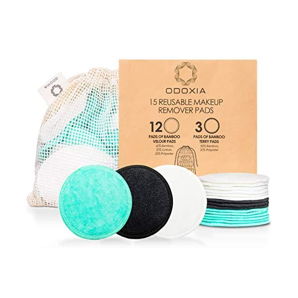 Best Epic Trends 51-S82oewcL._SS600_ Reusable Makeup Remover Pads   Eco Friendly & Zero Waste Cotton Rounds   Beauty Products   15 Natural & Organic Face…