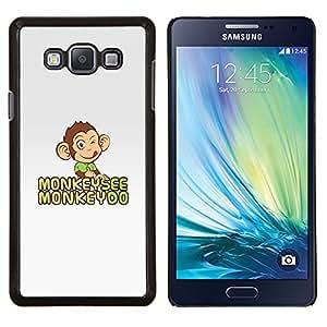 TECHCASE---Cubierta de la caja de protección para la piel dura ** Samsung Galaxy A7 ( A7000 ) ** --El mono ve Do gris feliz linda del dibujo