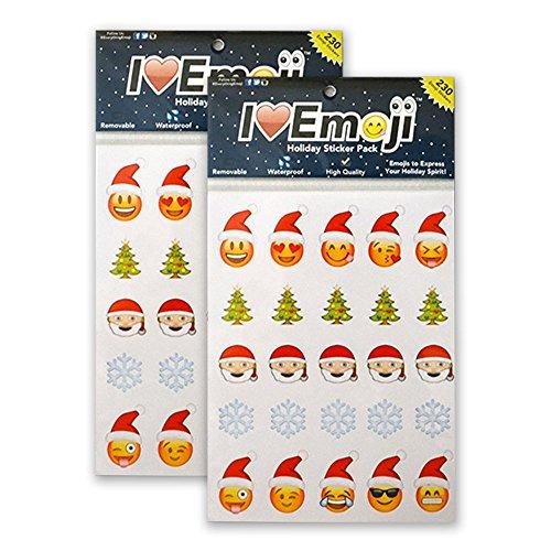 Everything Emoji Holiday Stickers | 460 Stickers | Santa, Snowflakes, Poo, Faces | Stocking Stuffers