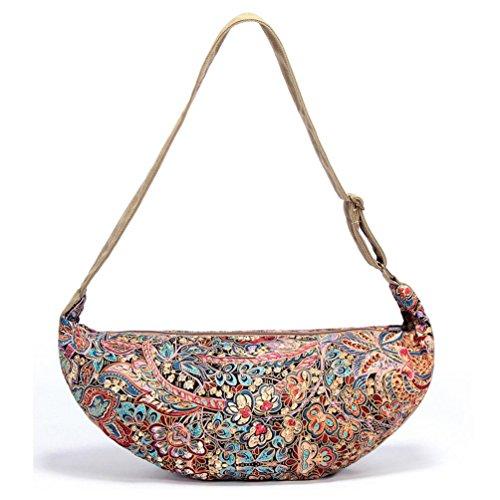 Chang Spent bolso de lona nacionales viento mensajero del bolso de la forma bola de masa de las mujeres , a a