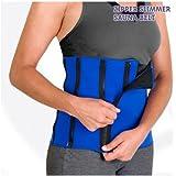 FitxSlim Zipper Slimmer Sauna Rider-Back, Unisex Adult, Blue, One Size
