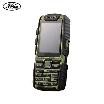 Guophone A6 Teléfonos Móviles Libres Móviles para los Mayores Impermeables Antigolpes Antipolvo Móvil 2.4in Dual Tarjeta Capacidad de Batería Grande ...