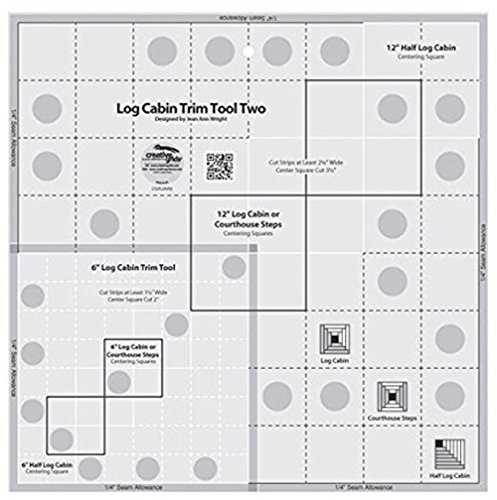 Creative Grids Log Cabin Trim Tool Two for 6