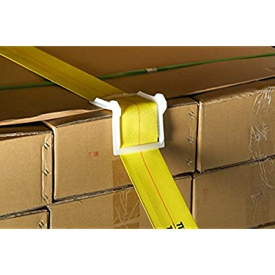 Vee Board 10-Pack Corner Edge Protectors for Cargo Loads, Cushion for Tie-Down Logistic Ratchet and Cam Straps Tie Downs on Flatbed Trailers, VBoard Tiedown Corner Protector: Automotive