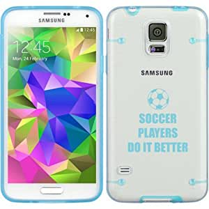 Light Blue Samsung Galaxy Ultra Thin Transparent Clear Hard TPU Case Cover Do It Better Soccer (Light Blue for S4)