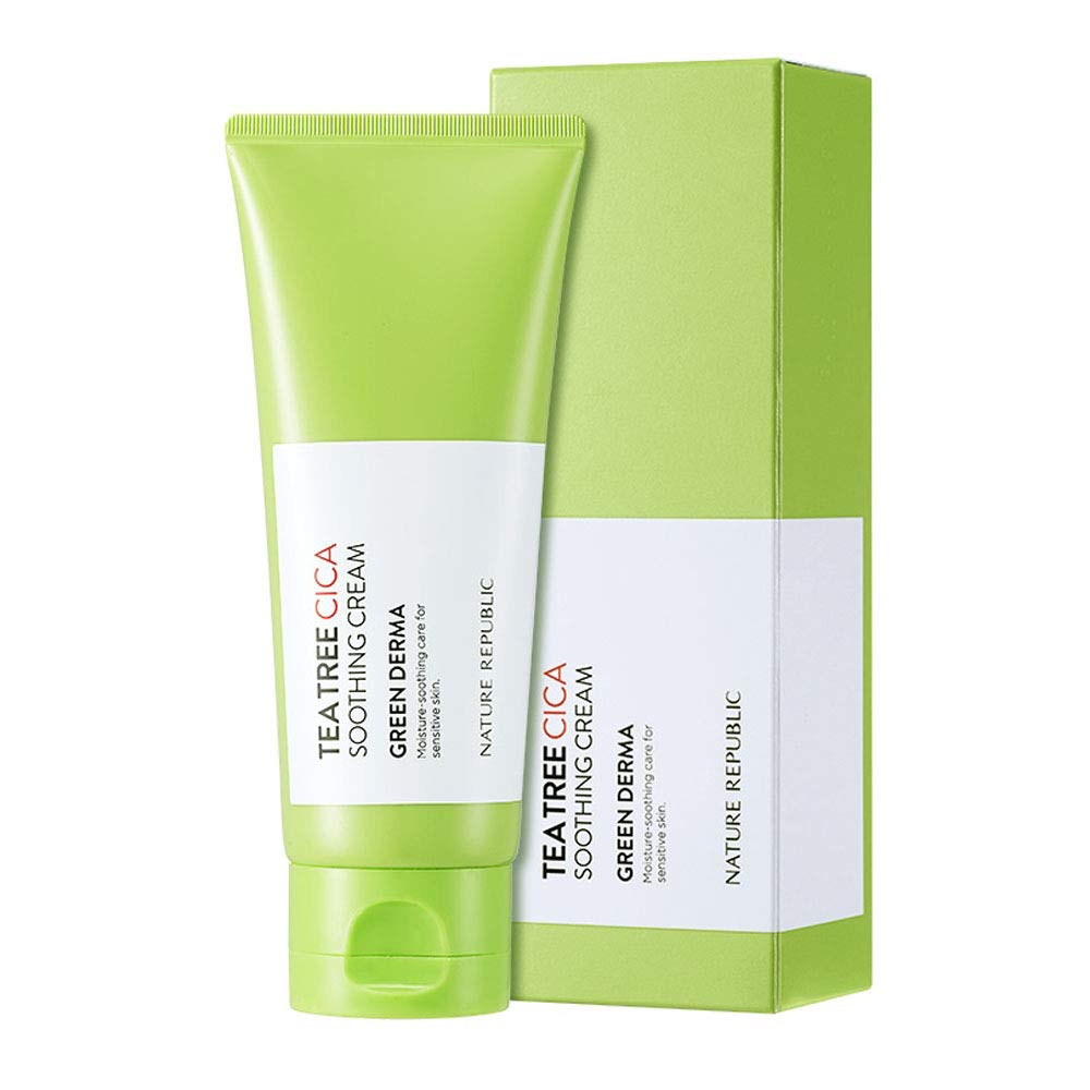 Nature Republic Green Derma Tea Tree Cica Soothing Cream 3.38 fl. oz. / 100ml