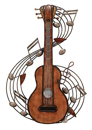 Deco 79 Metal Music Wall Plaque, 22 by 15