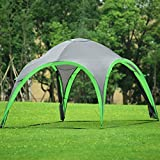 GYMAX. Portable Camping Tent, Waterproof & UV Resistant Family Dome Tent with Removable Wall Panels, 255 cm Height Event Shelter for Outdoor Picnic Festival Hiking Travelling, Includes Carry Bag