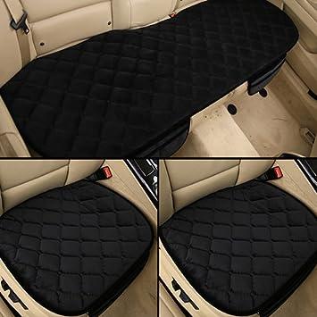 Sedeta 3PCS Silk Velvet Automotive Interior Car Vehicle Front Rear Seat Protecteur Set Cushion Mat Decor pour b/éb/é Housse de coussin de si/ège auto Coussin de housses pour si/èges de voiture Housses de