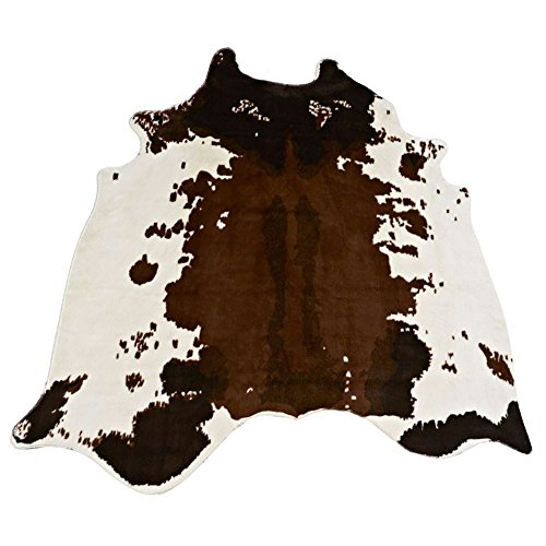Cow Print Rug 4.4x4.6 Feet Faux Cowhide Rug Animal Printed Rug Carpet Non-slip Animal Area Rug for Home Office Livingroom. (Cow) (Carpet Printed)