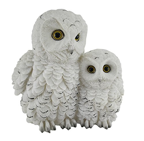 Zeckos Owl Always Love You Snowy Owl Mother and Owlet Decorative Statue