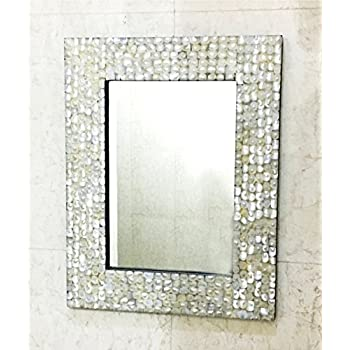 Amazon Com Mother Of Pearl Inlay Rectangle Frame Mirror