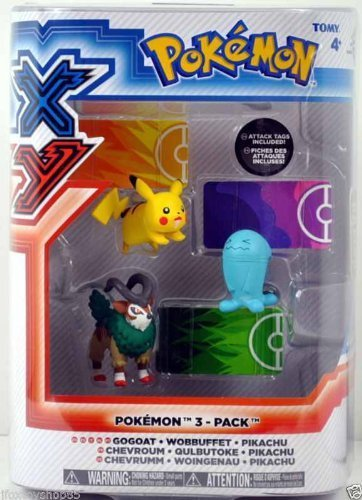 TOMY Pokemon XY Figures with Attack Tags 3-Pack (Gogoat W...