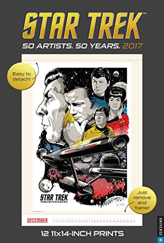 - Star Trek 2017 Poster Calendar: 50 Artists. 50 Years.