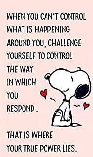 Funny Responsible Snoopy Quote - Photo Fridge Magnet: Amazon ...
