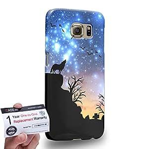 Case88 [Samsung Galaxy S6] 3D impresa Carcasa/Funda dura para & Tarjeta de garantía - Art Dreamscapes Silhouettes Journey