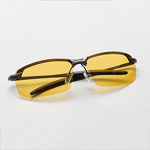 De sol Espejo de Conducción Hombres Gafas conducción Glare Mar ksung® SEEKSUNG® Anti vasos polarizadas metal Visión Nocturna vasos gxR67zq