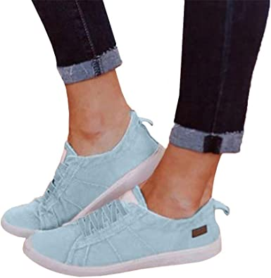Canvas Shoes for Women Slip Ons Wide