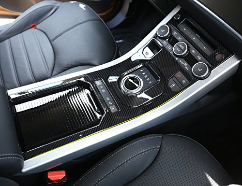 ABS Carbon Fiber Style Center Console Gear Shift Panel Cover Trim For Range Rover Evoque (Carbon Fiber Center Console)