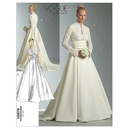 5c5b7310659f Vogue 2979 - Cartamodello di vestito da sposa Gr. FW 18-22 (44-46-48 ...