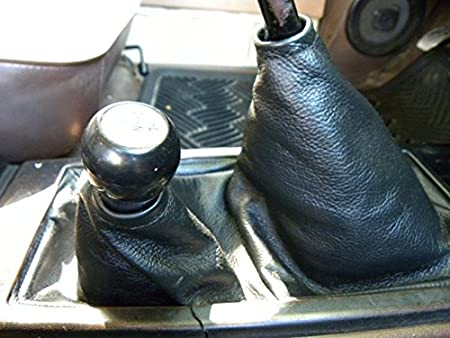 Black Leather-Red Thread RedlineGoods Shift Boot Compatible with Toyota 4runner 1984-89