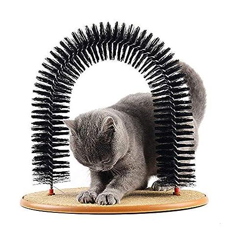 JIALI - Cepillo para pérdida de Pelo para Gatos, Herramienta de Afeitado para Gatos, Masaje, picazón antiestático, Antideslizante, Evita el estrés: ...
