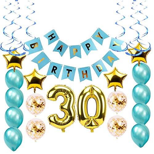 30th Birthday Party Decorations Kit-Large Happy Birthday Banner-Big