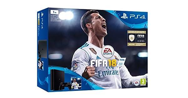 Sony, PlayStation 4 (PS4) - Consola de 1 TB + FIFA 18: Amazon.es ...