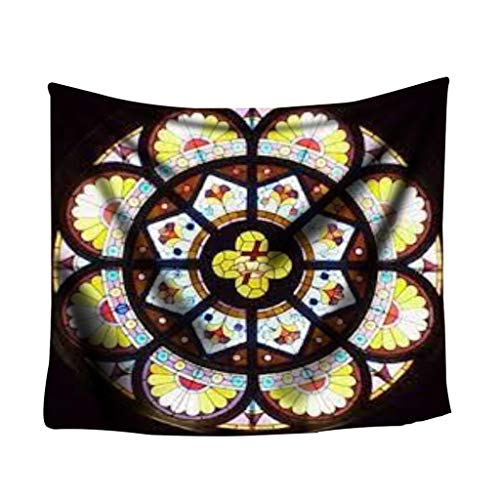 Atom Little Tapestry Wall Hanging,Notre Dame de Paris Theme Wall Tapestry Commemorative Tapestry Decorations for Living Room Bedroom Dorm Decor (E)