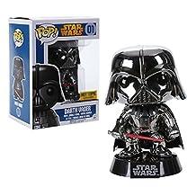 Funko POP Chrome Darth Vader Exclusive Star Wars Bobblehead Figure