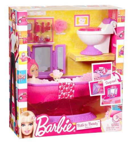 T7537 mattel barbie con accesorios de ba o ba era tocador lavabo y ba o - Accesorios para baneras ...