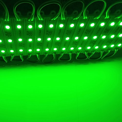 20pcs 5050 3leds Green Light LED Modules Waterproof LED Sign Backlight For Channel Letters