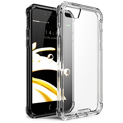 BUDDIBOX iPhone 7 / iPhone 8 ICE Series Clear Protective Case | Raised Bumpers | Scratch and Drop Resistant | Anti-Slip for Excellent Grip Plastic ()