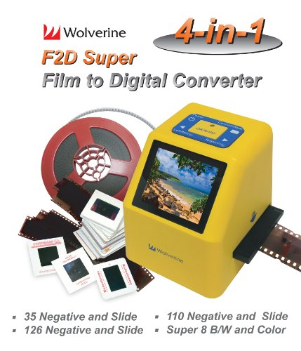 Wolverine 20MP 4-In-1 Film to Digital Converter (F2DSUPER)