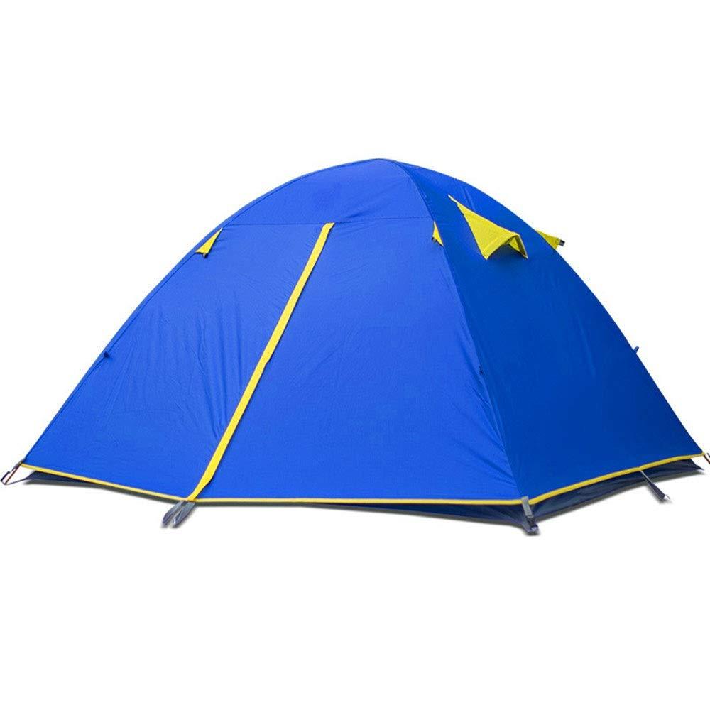 ドーム防水テント、ポータブルキャンプテント、新しい三人の高圧ゴム製のアルミポールテント、ビーチテント屋外レジャーテント、シェードフィッシングテント   B07QD3JZKG